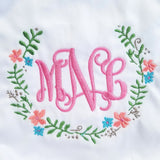 Floral Wreath Monogram