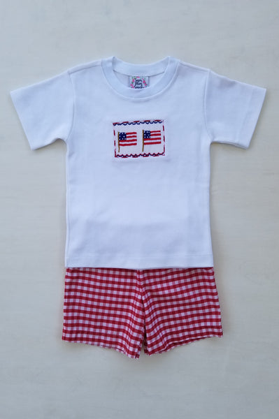 Stars and Stripes Boys Shorts Set