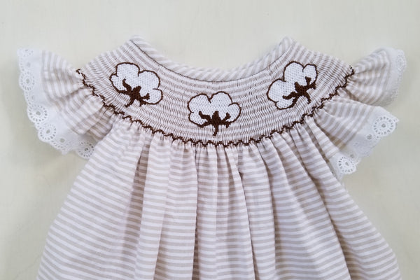 Cotton Bolls Bishop Dress