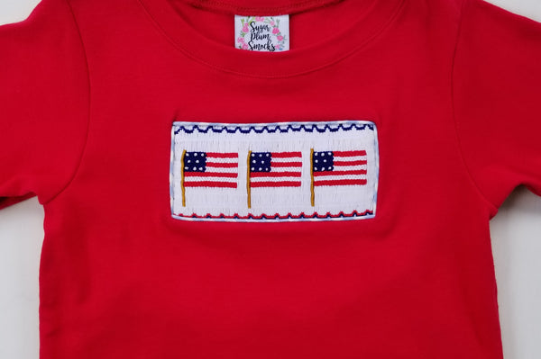 Land of the Free Boys Shorts Set