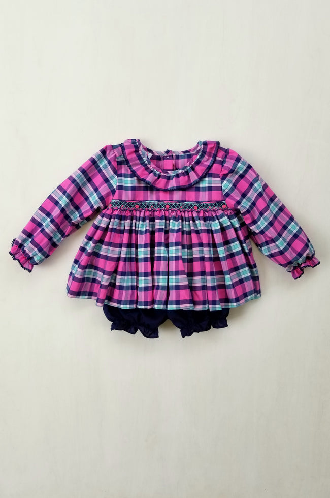 Pinckney Plaid Bloomer Set