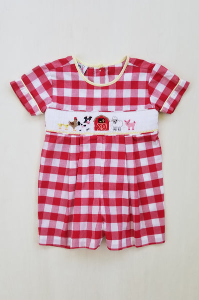 On the Farm Boys Romper