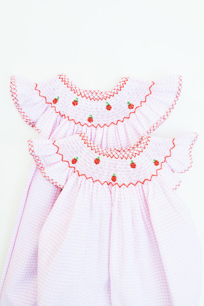 Strawberry Picnic Bishop Dress