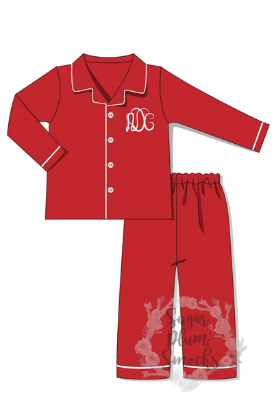 Christmas Jammies Monogram