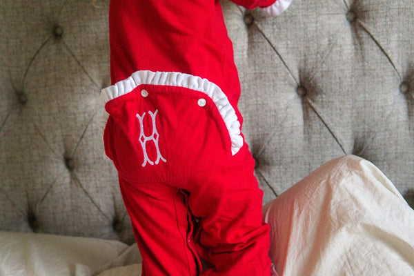 Dropseat Christmas Jammies Monogram