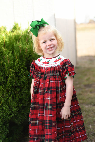 Christmas Truck Bishop Dress