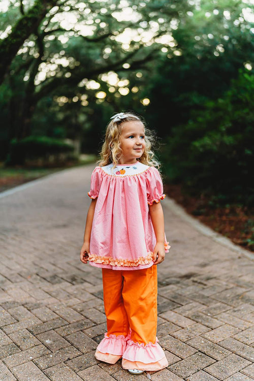 Trick or Treat Ruffle Pants Set
