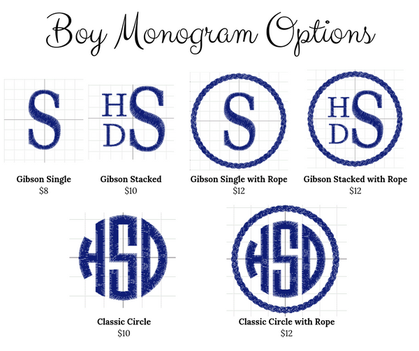 Whaley Cute Monogram Add-On