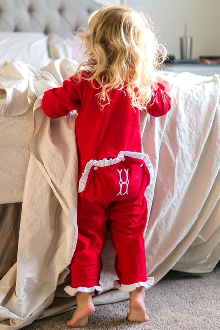 Old Saint Nick Bubble Pants Set