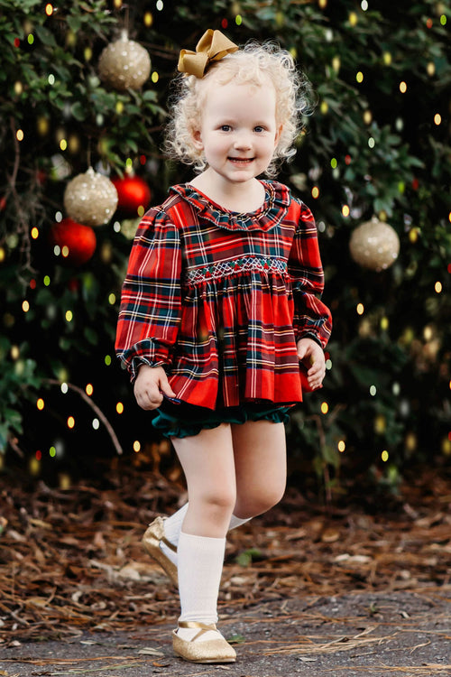 Jolly Holly Girls Bloomer Set