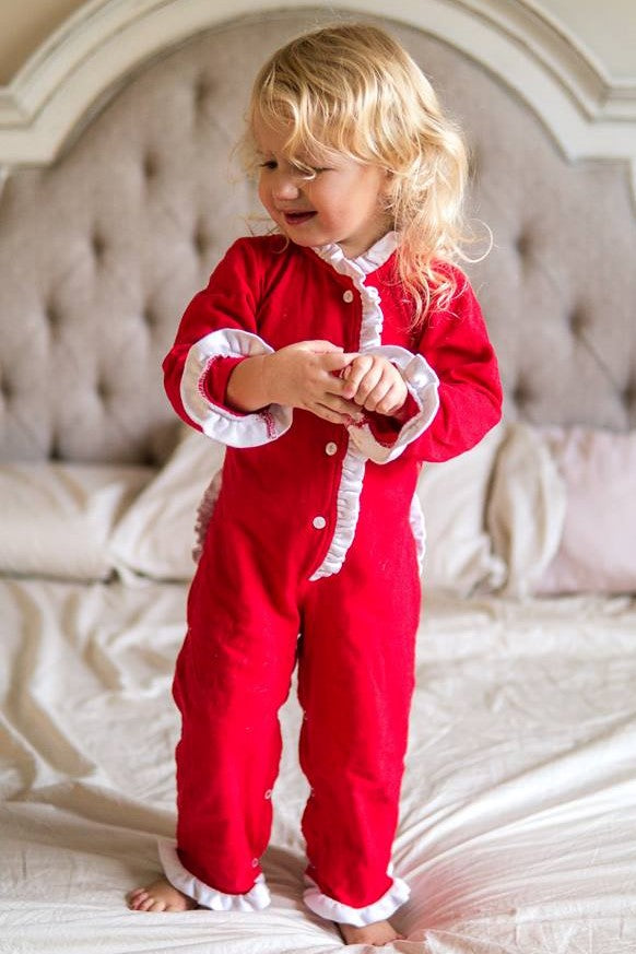 *IMPERFECT* Girls Dropseat Christmas Jammies