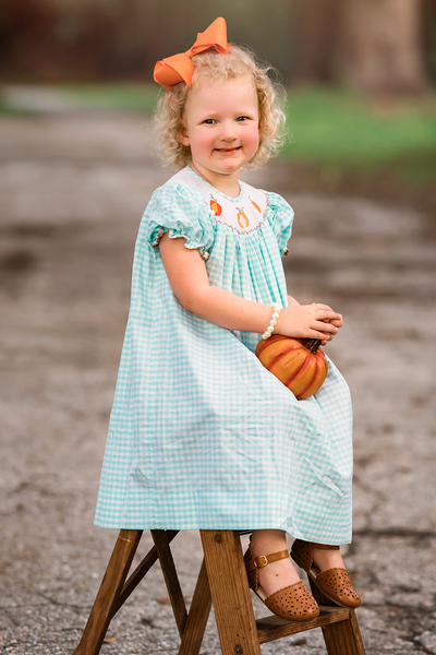 Patchwork Pumpkins Bishop Dress