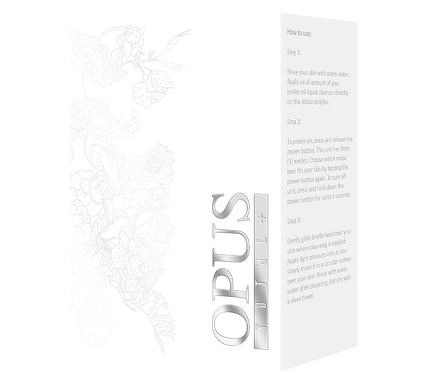Opus total, features 4 interchangeable tips,combats signs of aging, treat blemishes, and enhance blood flow to achieve a youthful, radiant complexion day after day