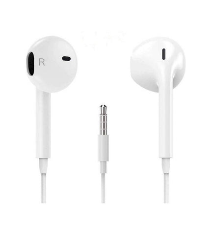 Wired Headset with Mic 3.5 mm jack (White, In the Ear)