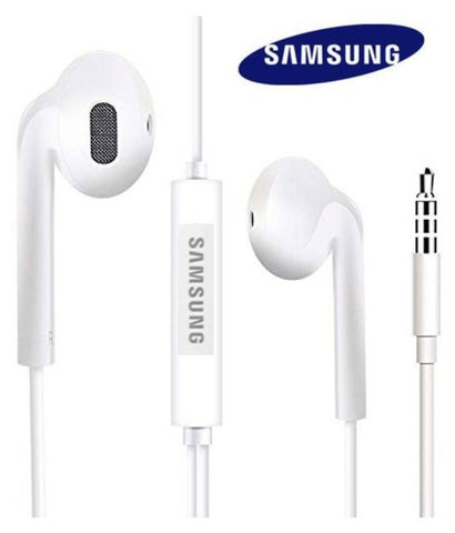 Samsung 3.5mm Wired Earphones With Mic (WHITE)