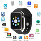 Genuine A1 Smart Watch Phone Camera SIM Card Pedometer -Black