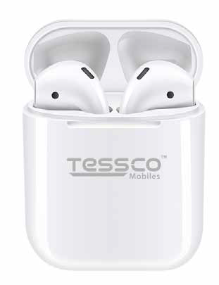 Tessco White I Buds-402 Super Bass Earbuds