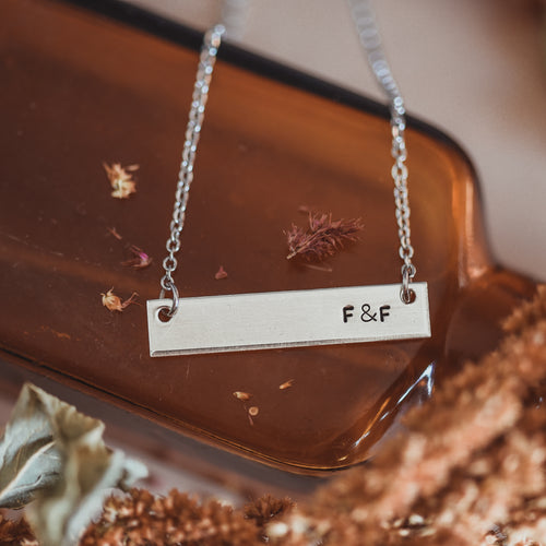 Couples bar necklace