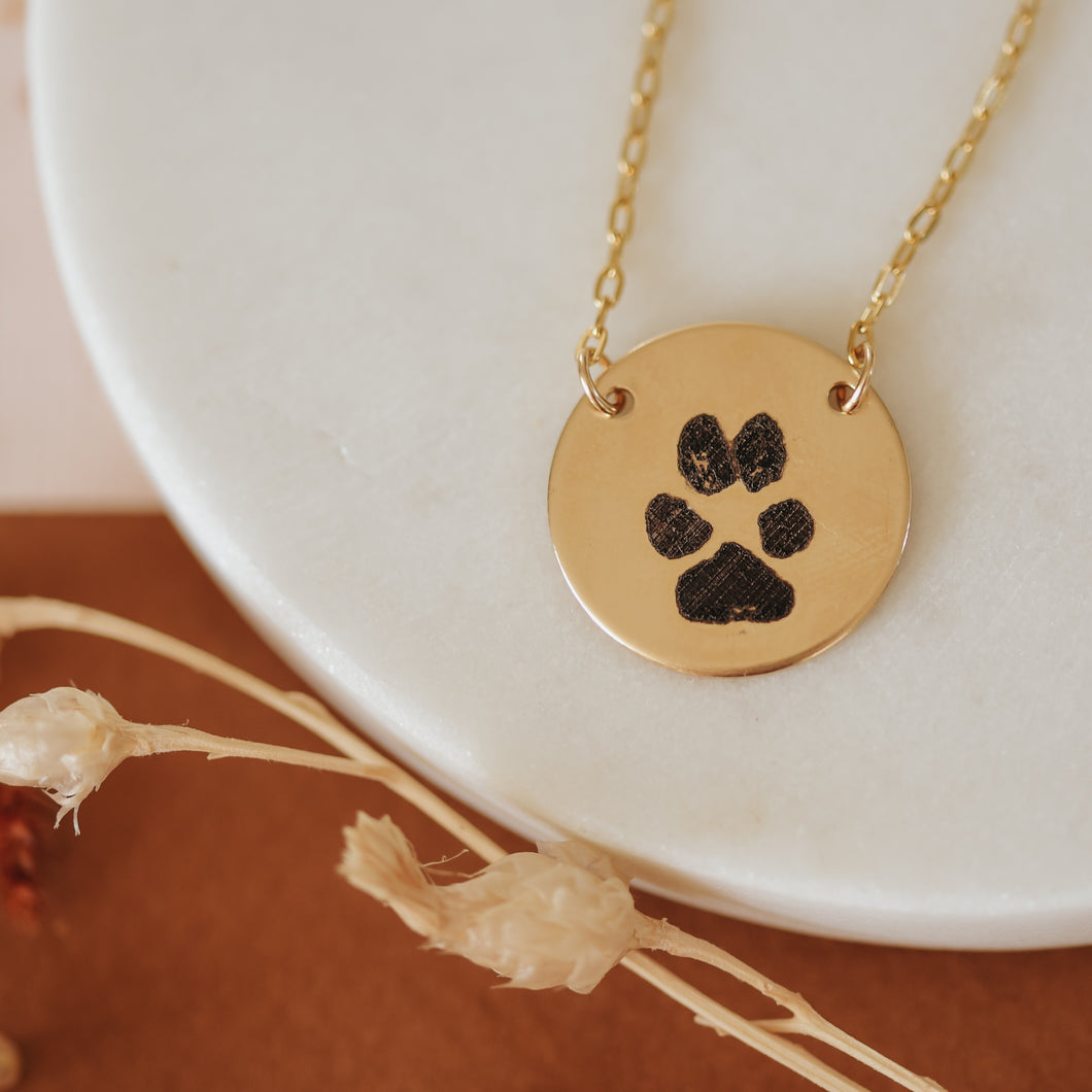 Paw Print AVA Necklace