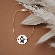 Paw Print/Footprint Disc Bracelet