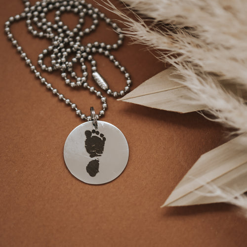 Footprint Men's Necklace