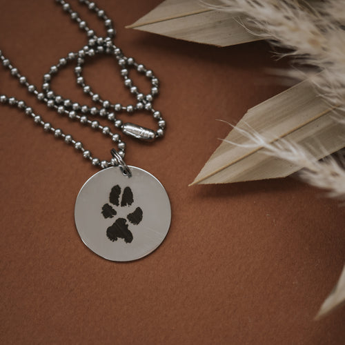 Paw Print Men's Necklace