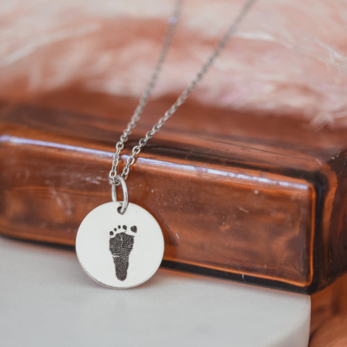 Footprint Necklace