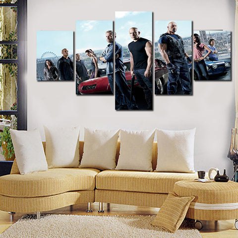 Framed Fast and furious movie Wall art