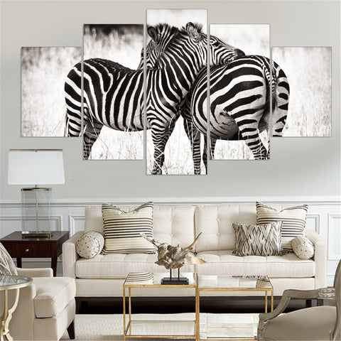 Zebras Wall Art HD Canvas