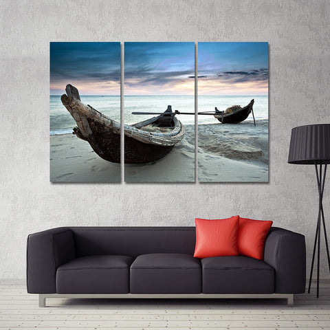 Beach Landscape Boat Wall Art