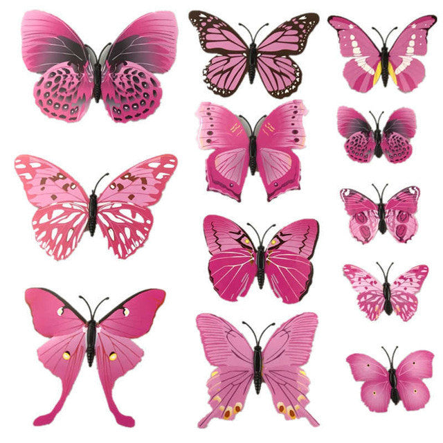 3D DIY Butterfly Wall Stickers
