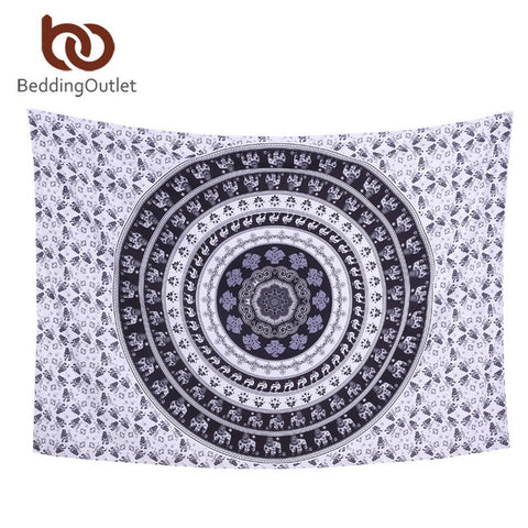 Crystal Arrays Mandala Tapestry