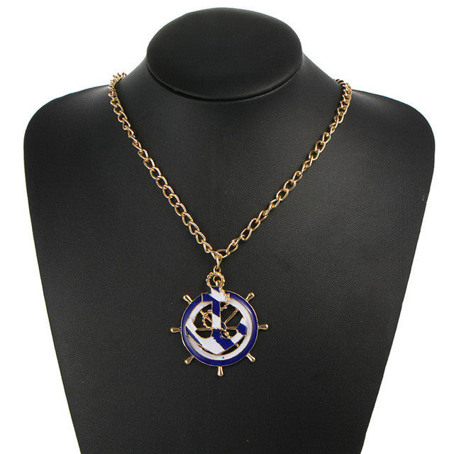 Chain simulated Pearl Cross Pendants Necklace