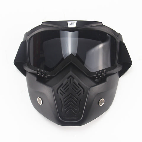 motorcycle face mask dust mask with detachable Goggles