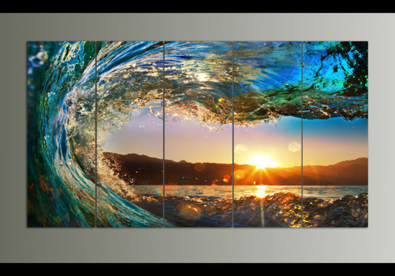 Big Waves Canvas Painting Limited Edition