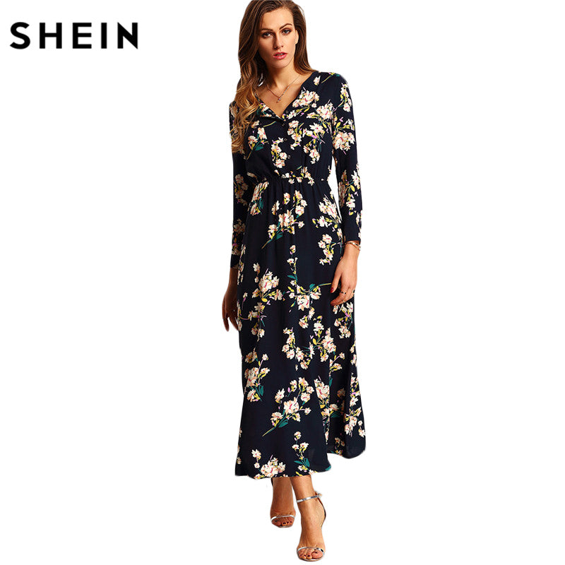 Boho  Floral Long Party Dress