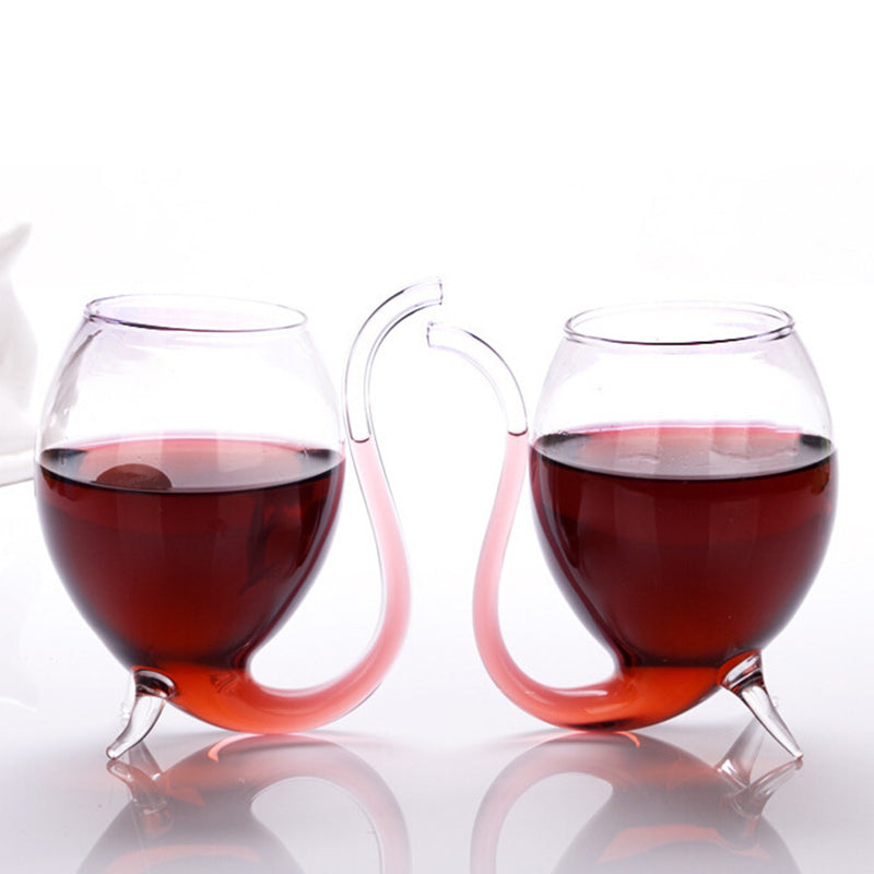 300ml Transparent wine glass with straw novelty straw wine glass Vampire cup Juice cup Straw cup glass gift