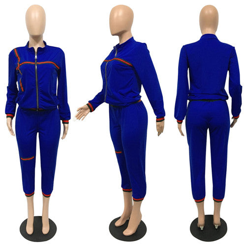 Casual Front Zipper up Pansuit