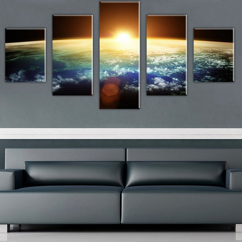 5PCS The Dawn Of The Universe Wall Painting