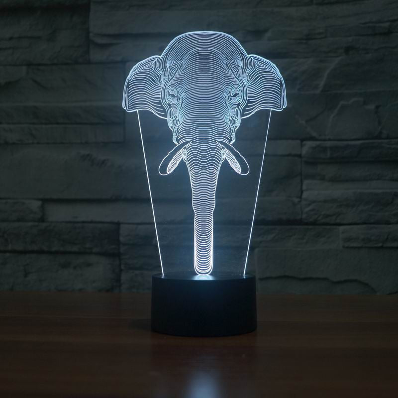 3D Illusion Elephant Led Table  Lamp