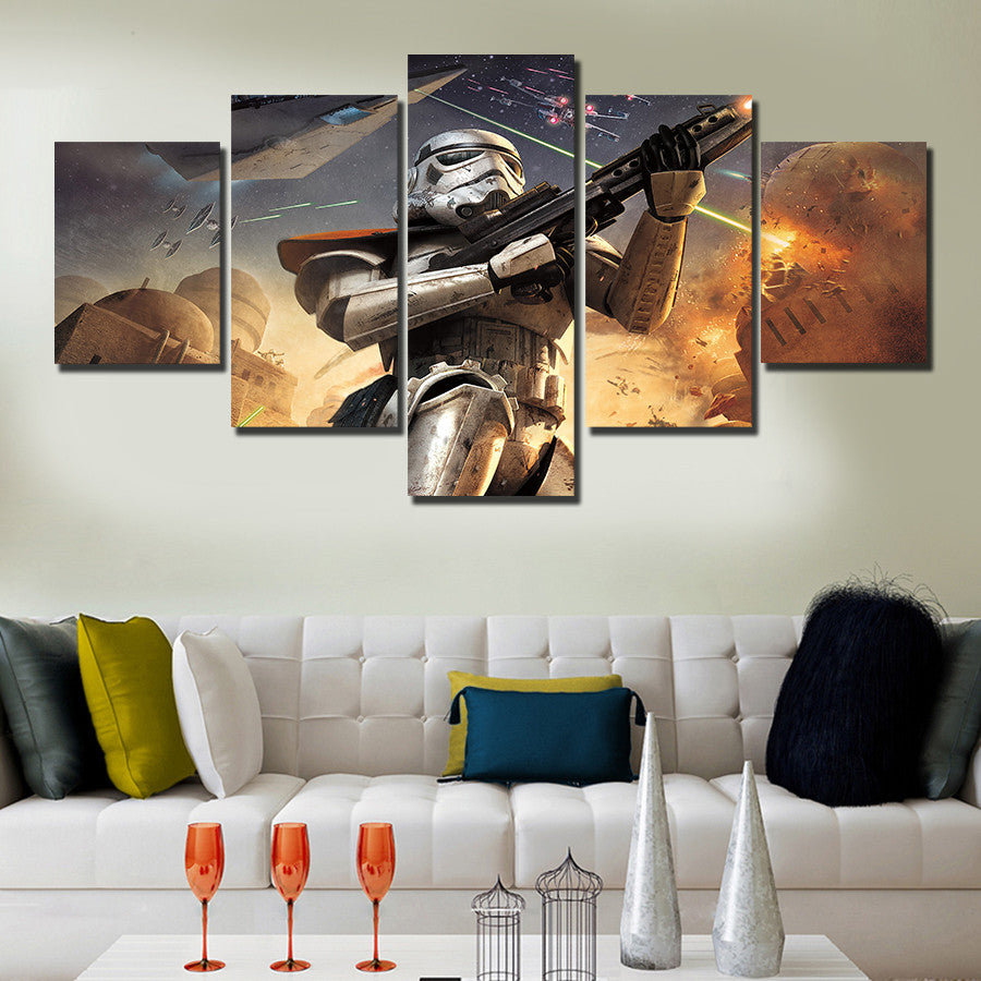 5 Pcs Star Wars Home Decor Canvas