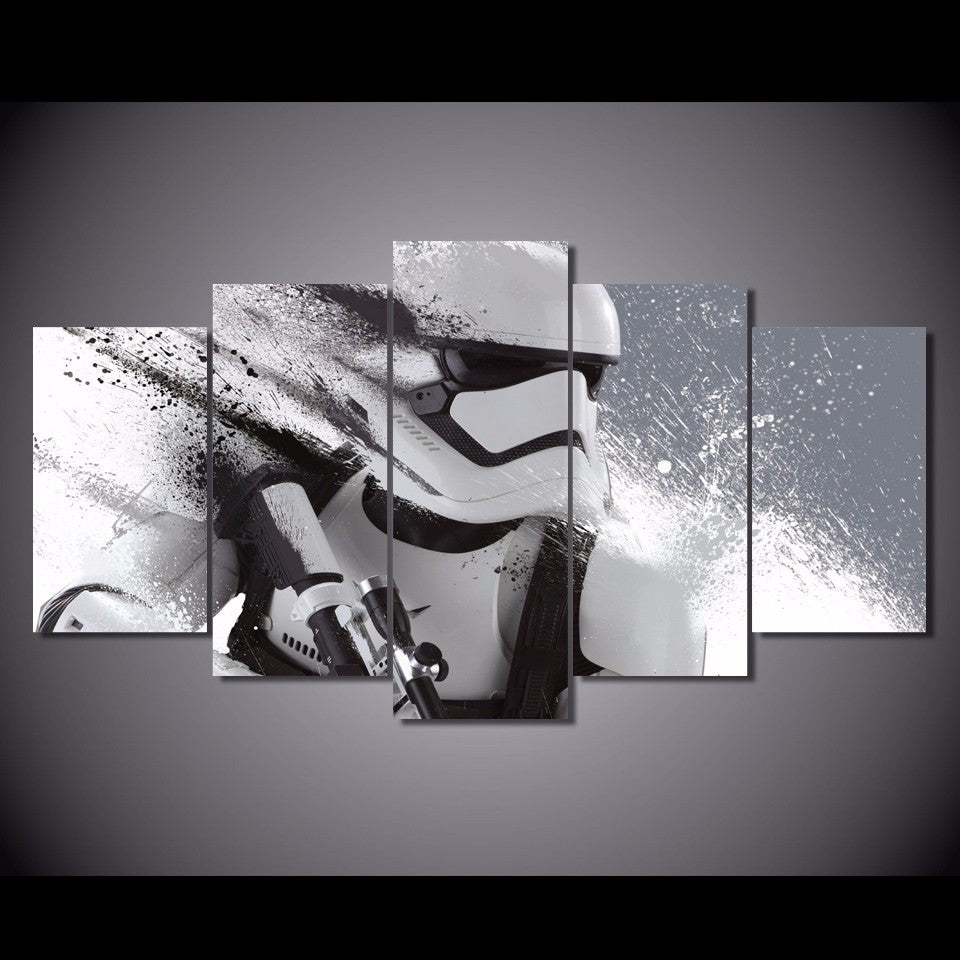 5 Pcs Star Wars Stormtrooper Movie Canvas