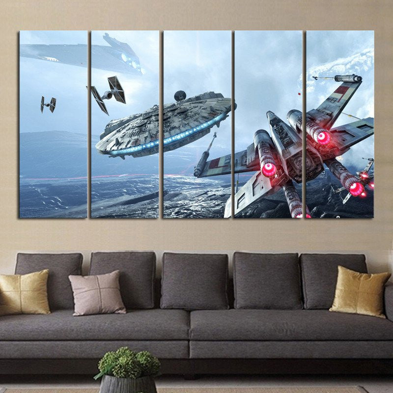5 pcs Star wars painting canvas