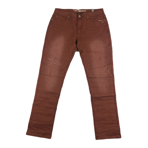 A. Tiziano Marcus Solid Twill Stonewashed Jean (sequoia)