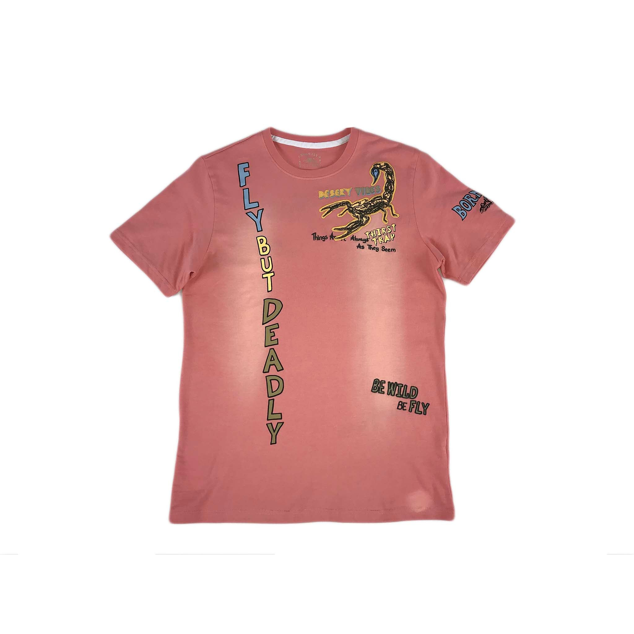 Born Fly Scorpion Tee SS (pink)