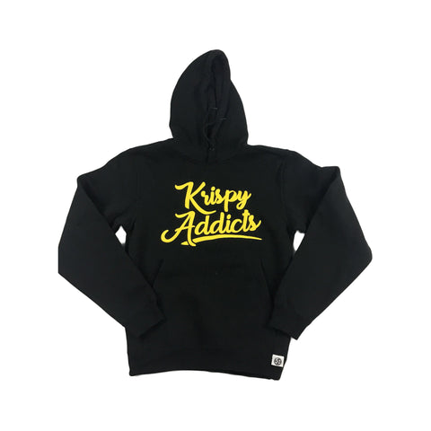 Krispy Addicts - Hoodie (black/yellow)