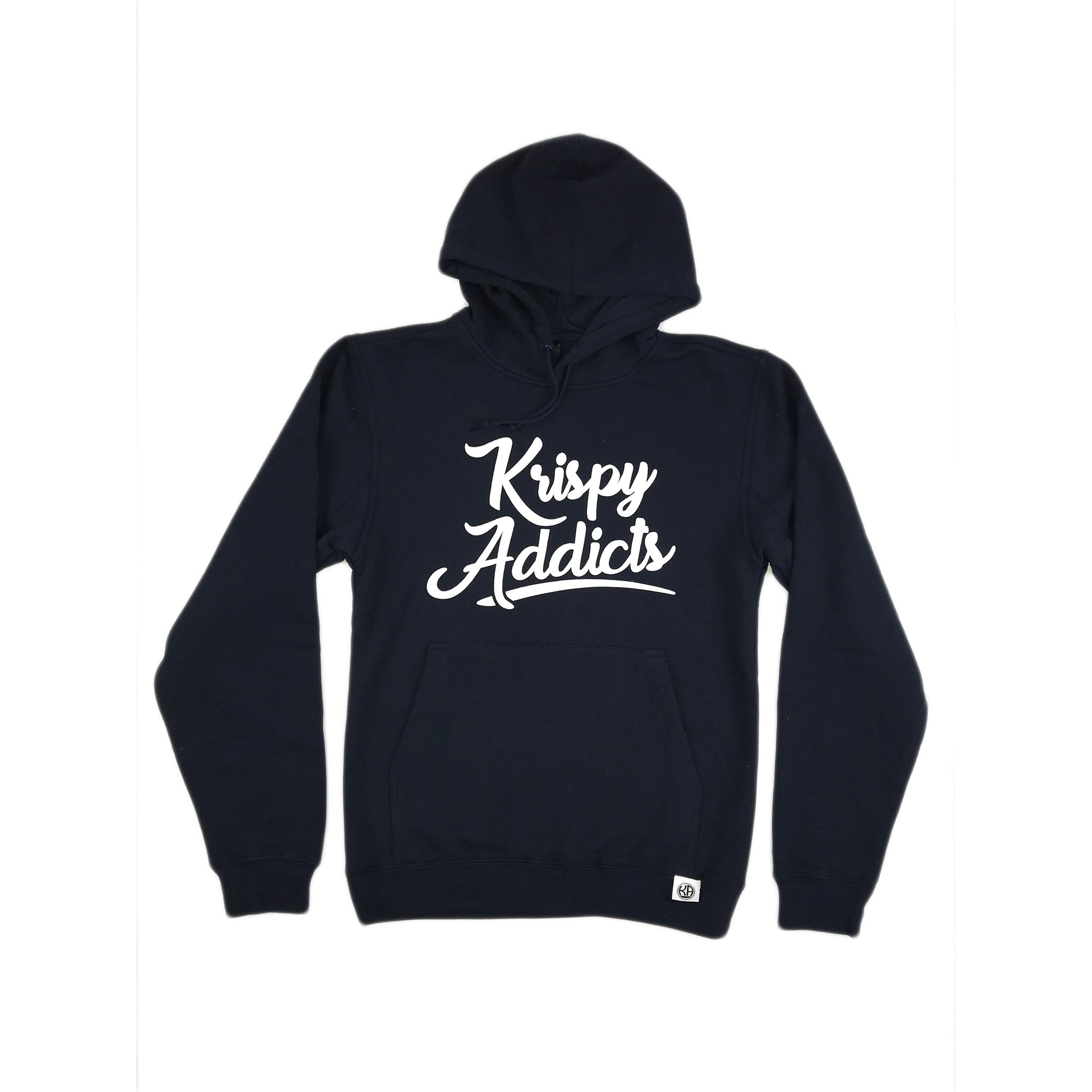 Krispy Addicts - Hoodie (navy/white)
