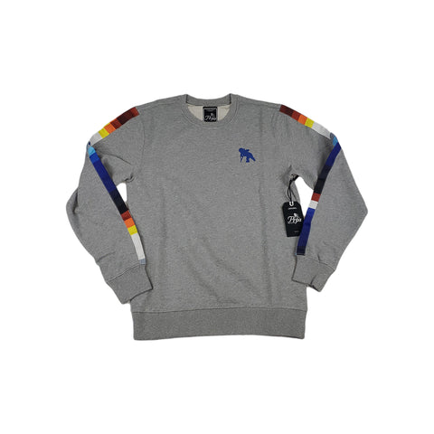 PRPS Chillicothe Pixelated Stripe Crewneck (heather grey)