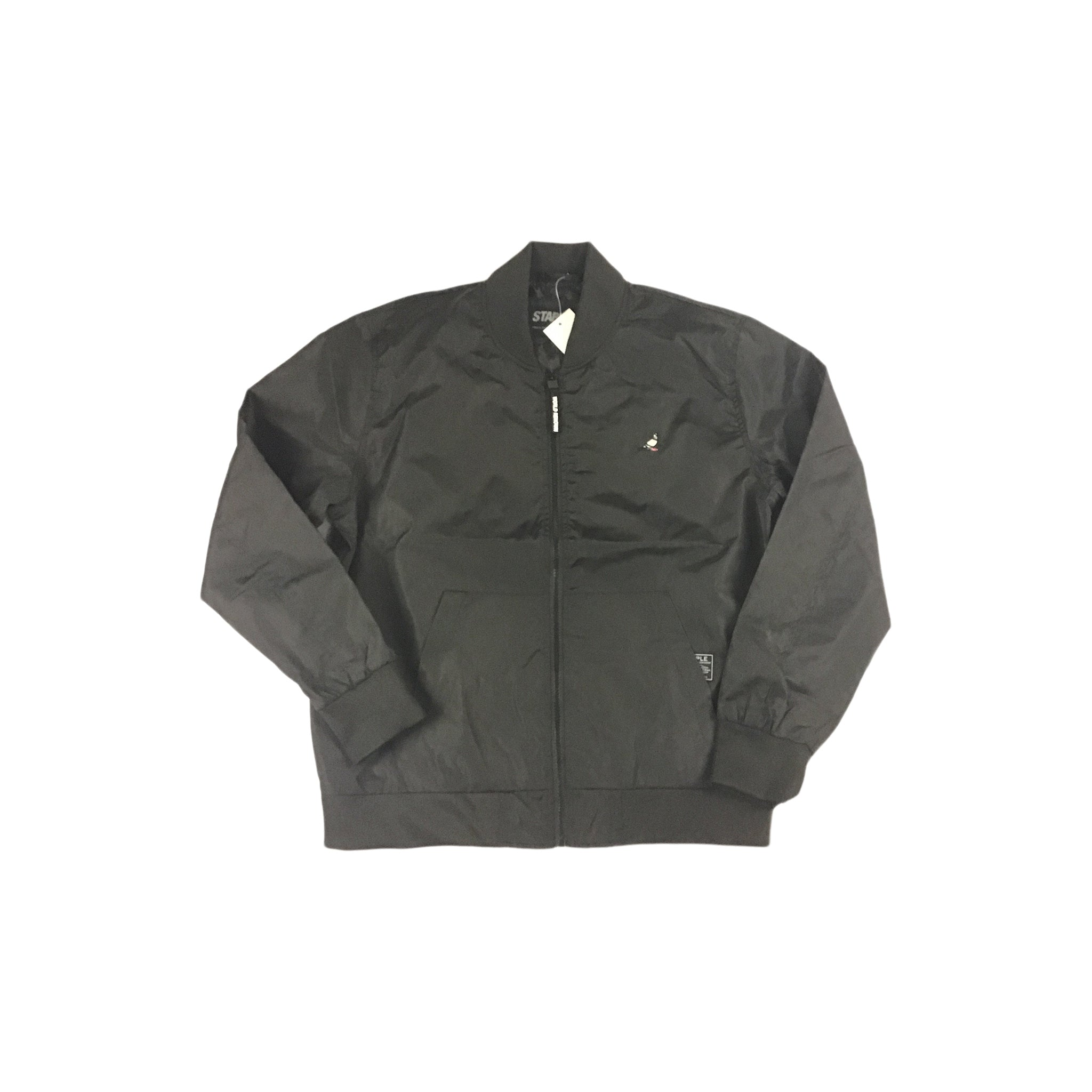 Staple Nylon Bomber Jacket (black)