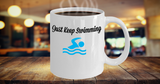 Just Keep Swimming Coffee Mug Coffee Gift for Swimmers Custom Unique Cup